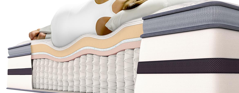 diagrama de mujer en colchón dormida
